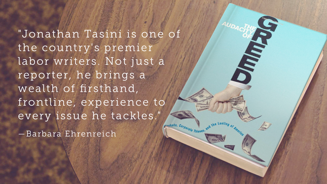 """Jonathan Tasini is one of the country's premier labor writers. Not just a reporter, he brings a wealth of firsthand, frontline, experience to every issue he tackles.""—Barbara Ehrenreich"