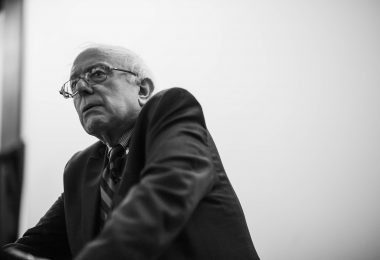 Sen. Bernie Sanders (I-Vt.) speaks during a town hall event at Drake University in Des Moines, Iowa, on Friday, February 20, 2015. Photo by J. Alex Cooney/StumpSource.org