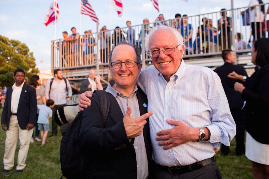 Jonathan Tasini with Bernie Sanders