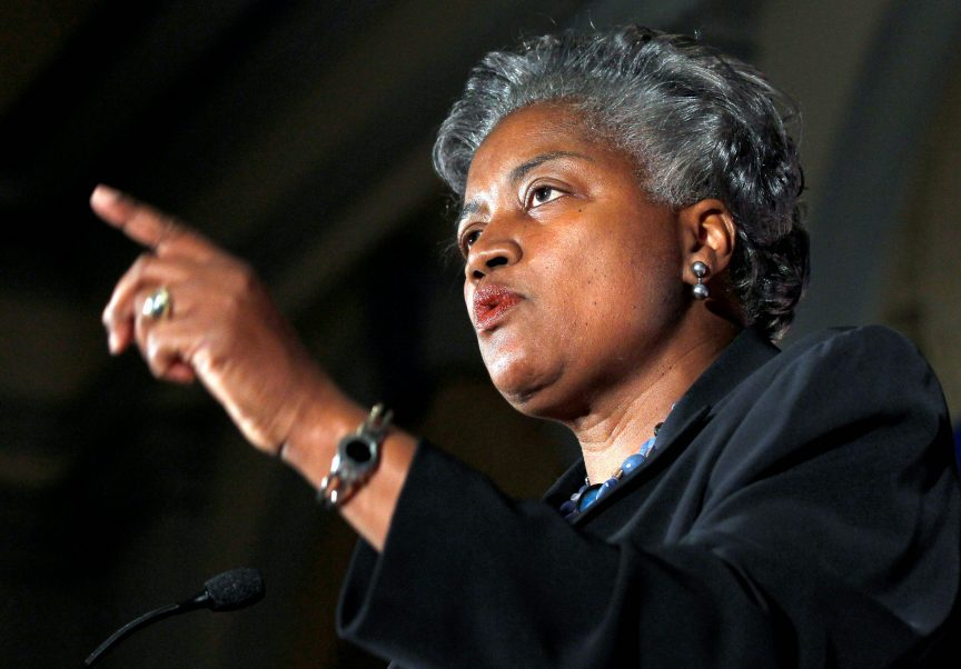 Interim Democratic National Committee Chair Donna Brazile speaks during a meeting of Democratic National Committee to formally elect Rep. Debbie Wasserman Schultz, D-Fla., to the chair Wednesday, May 4, 2011 in Washington.(AP Photo/Alex Brandon)